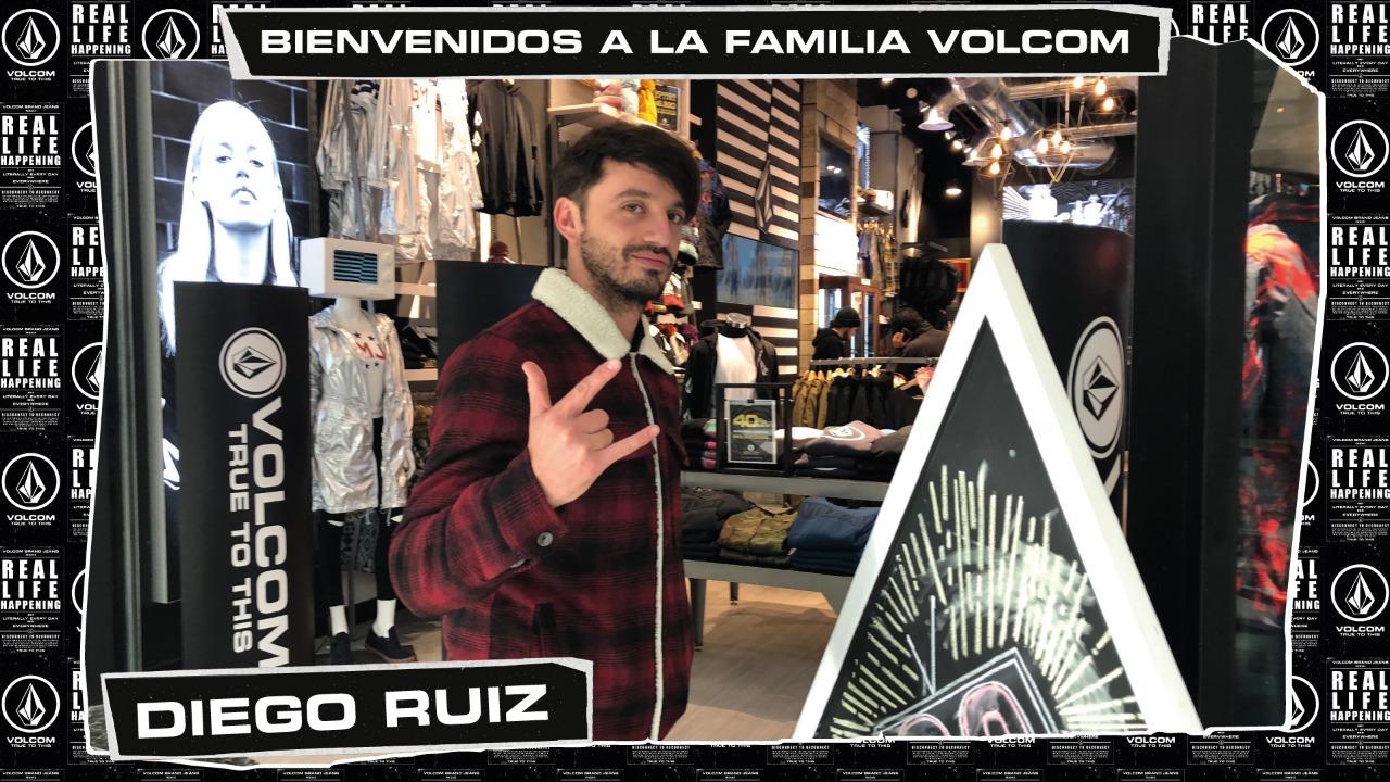 Diego Ruiz se integró al equipo de actores de lujo que tiene Volcom Stone en Chile